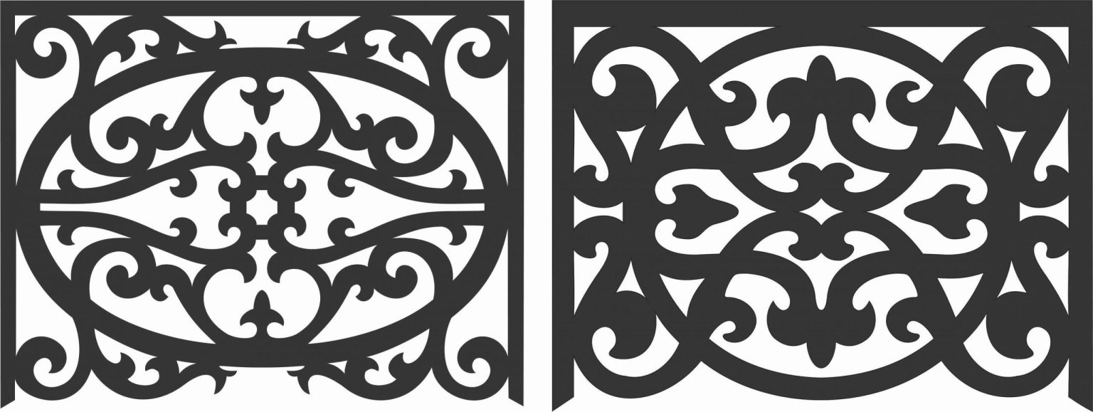 Decorative Screen Patterns For Laser Cutting 58 Free DXF File