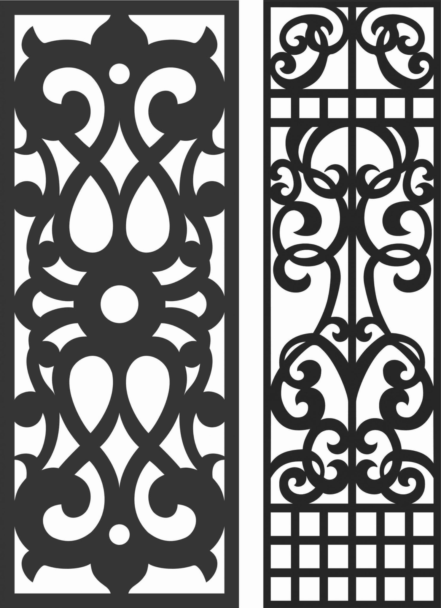 Decorative Screen Patterns For Laser Cutting 59 Free DXF File