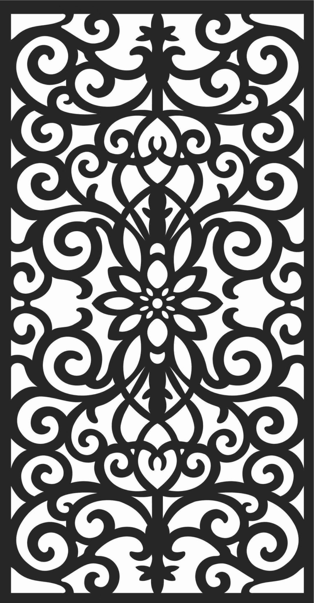 Decorative Screen Patterns For Laser Cutting 60 Free DXF File