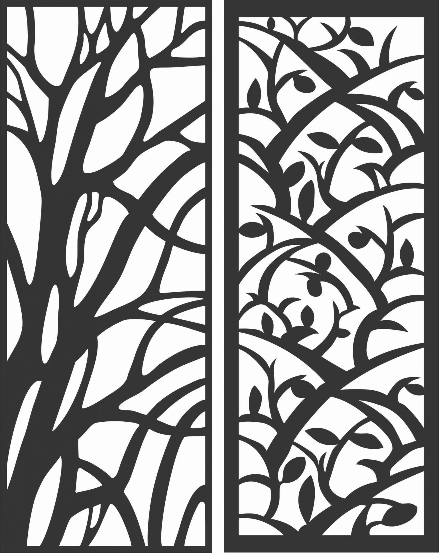 Decorative Screen Patterns For Laser Cutting 62 Free DXF File