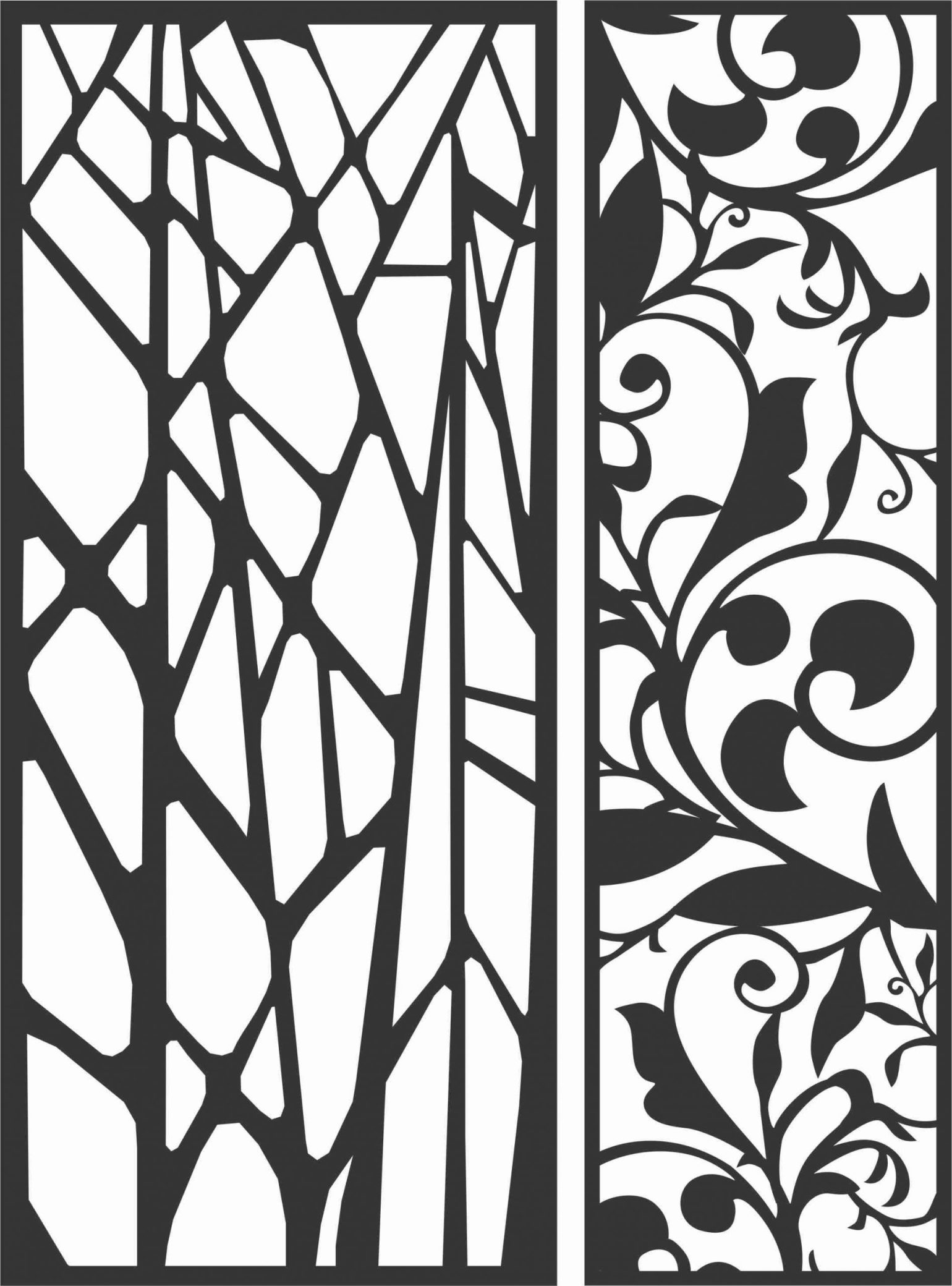 Decorative Screen Patterns For Laser Cutting 63 Free DXF File