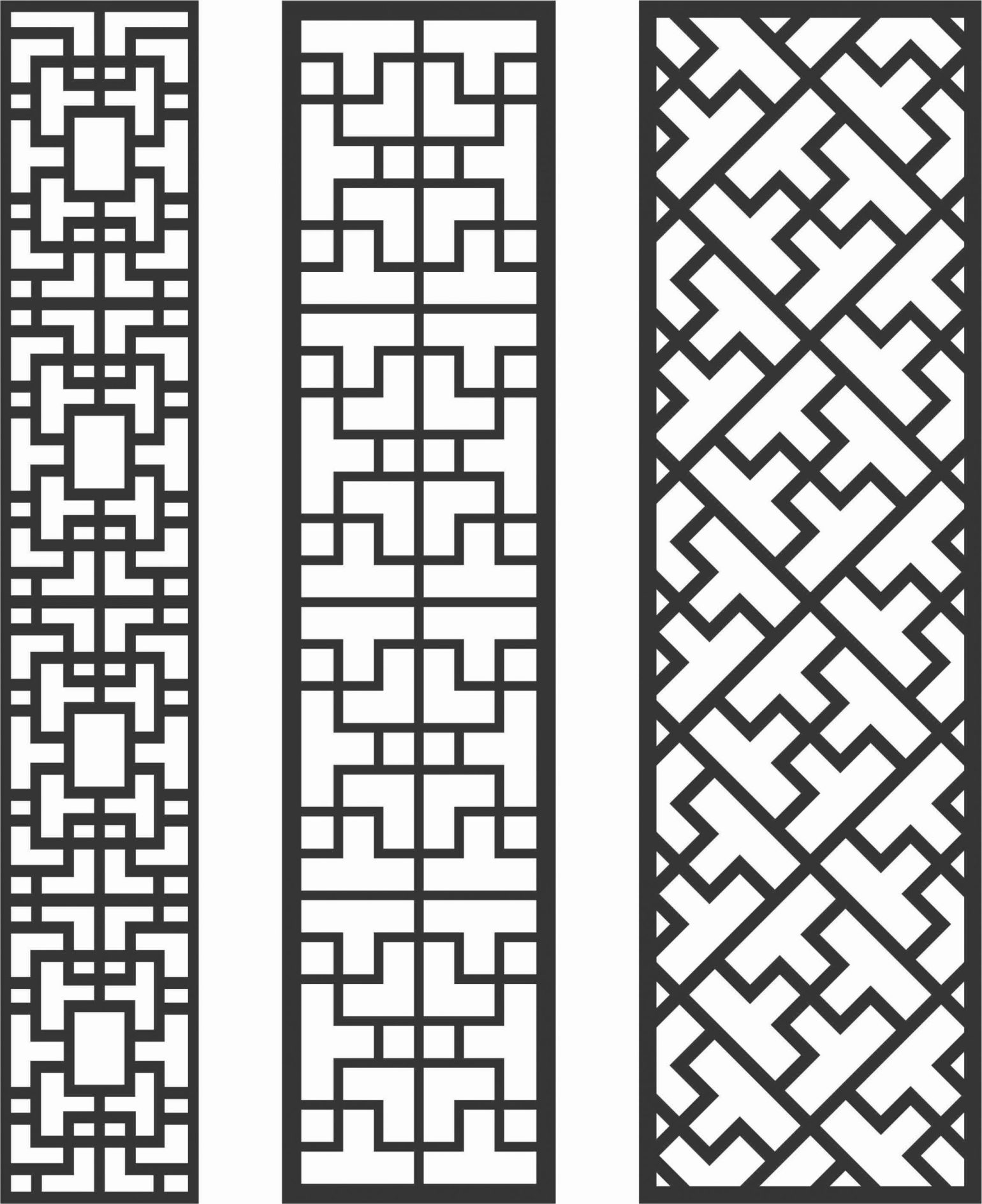 Decorative Screen Patterns For Laser Cutting 82 Free DXF File