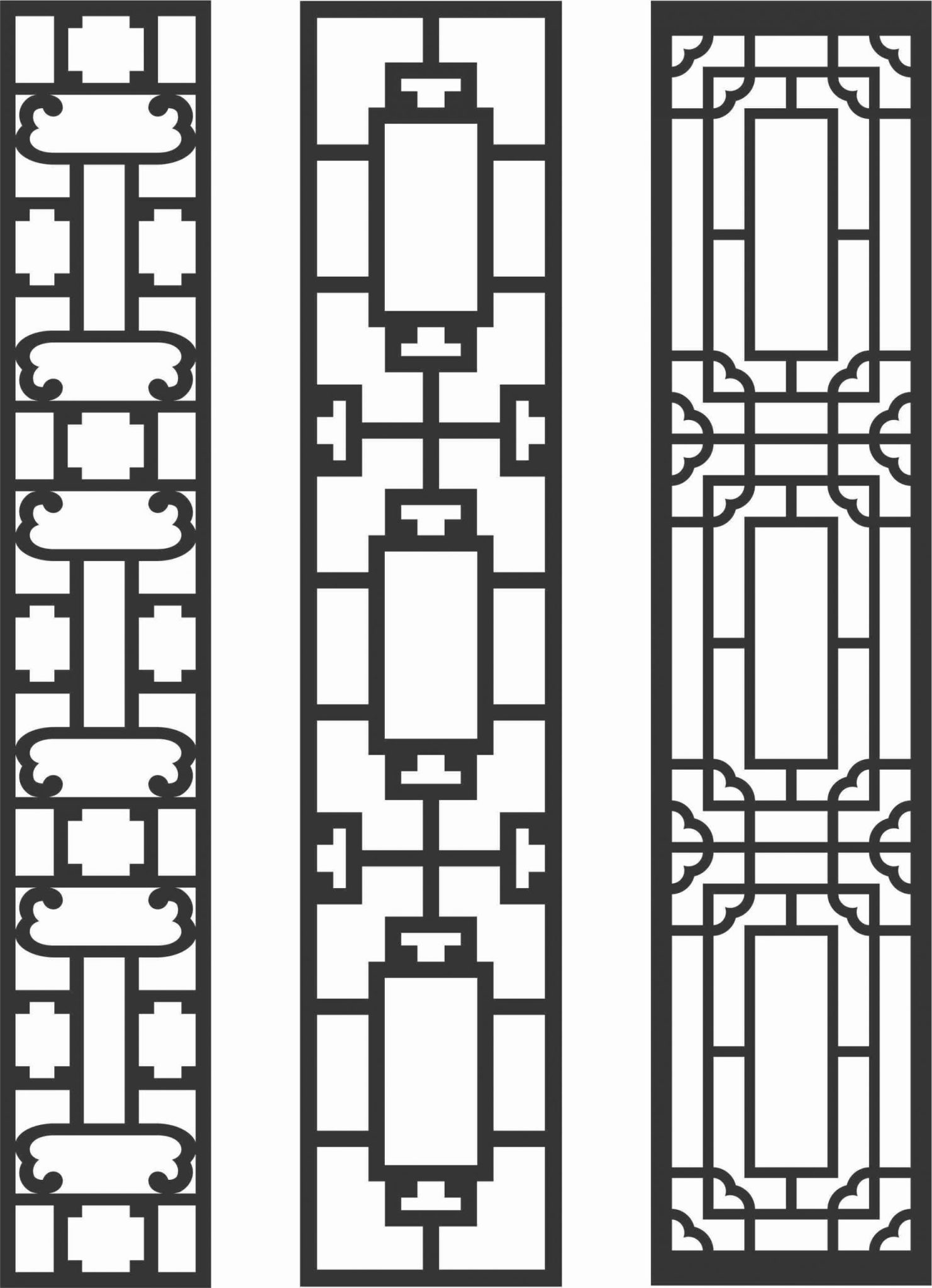 Decorative Screen Patterns For Laser Cutting 83 Free DXF File