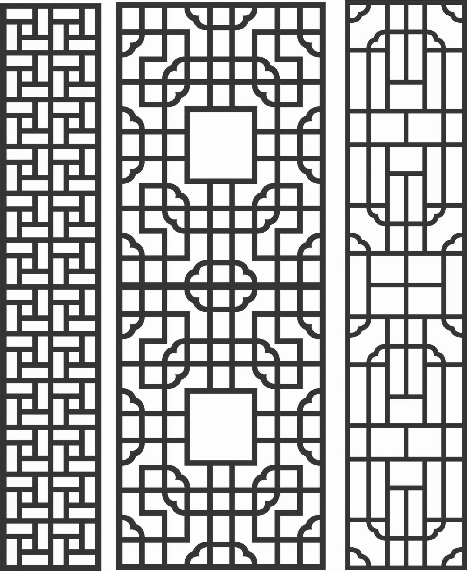 Decorative Screen Patterns For Laser Cutting 84 Free DXF File