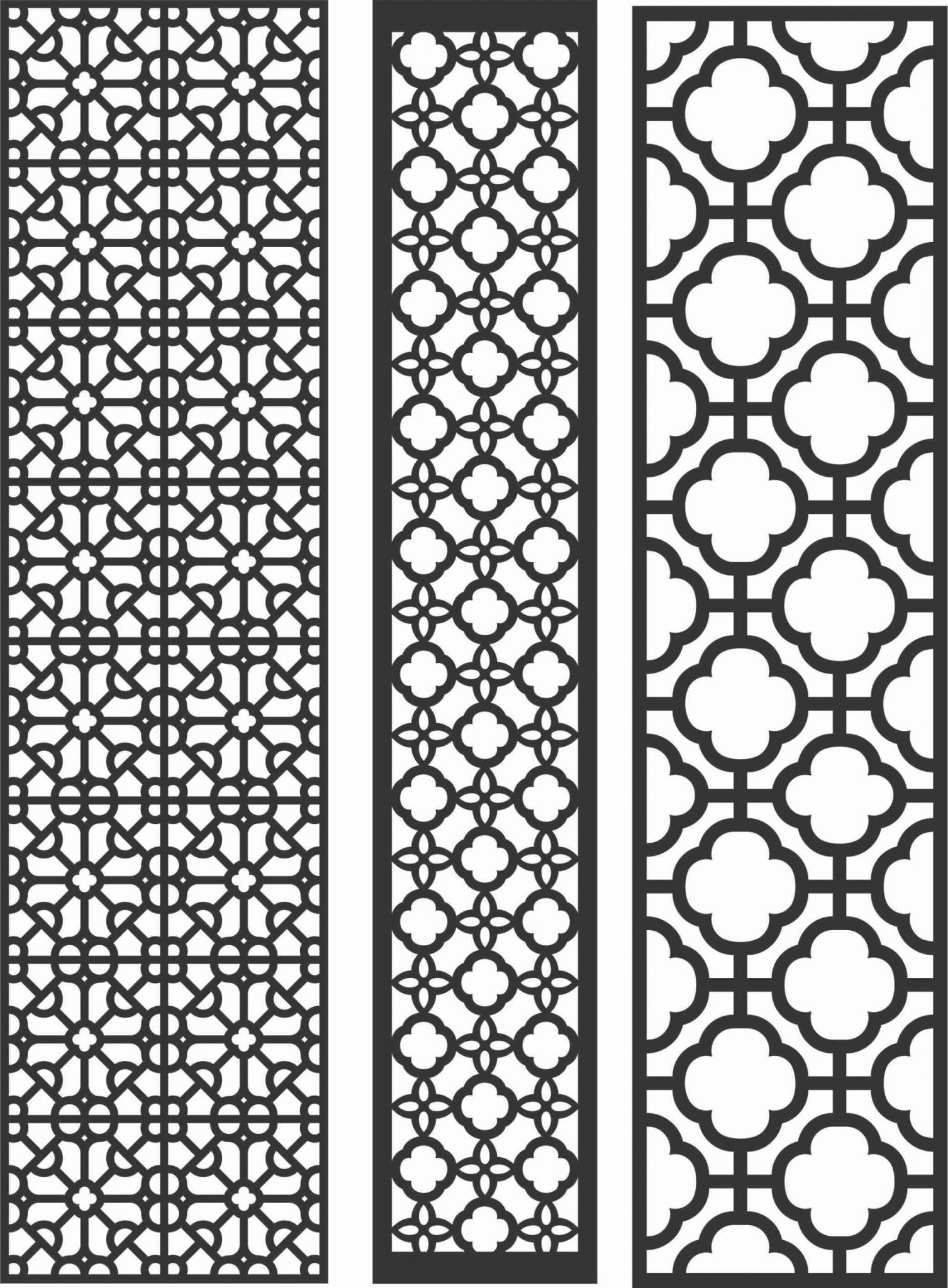 Decorative Screen Patterns For Laser Cutting 85 Free DXF File