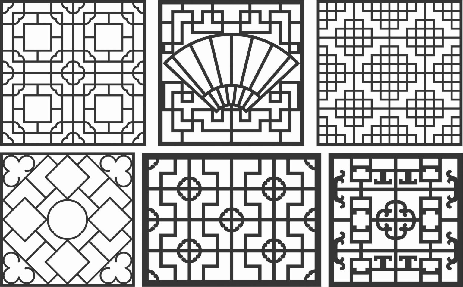 Decorative Screen Patterns For Laser Cutting 86 Free DXF File