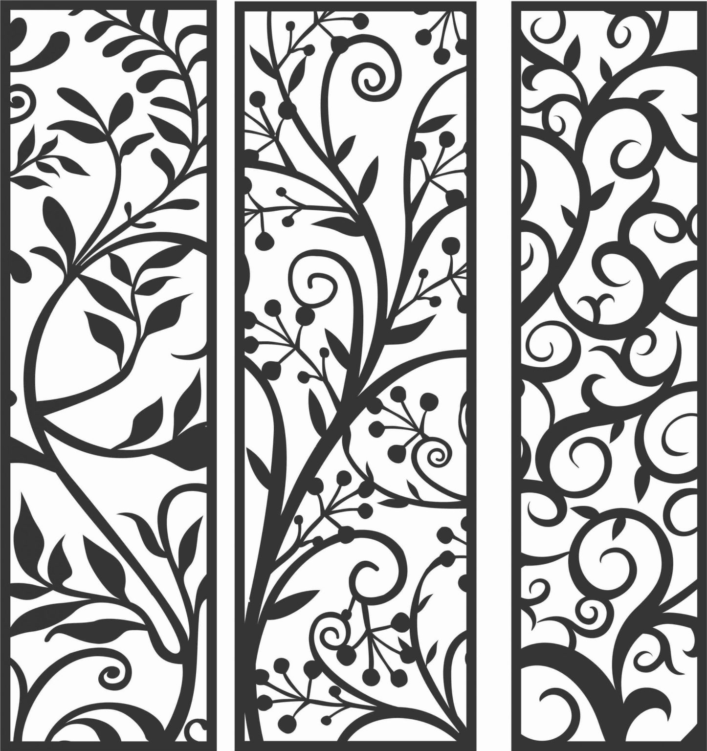 Decorative Screen Patterns For Laser Cutting 87 Free DXF File