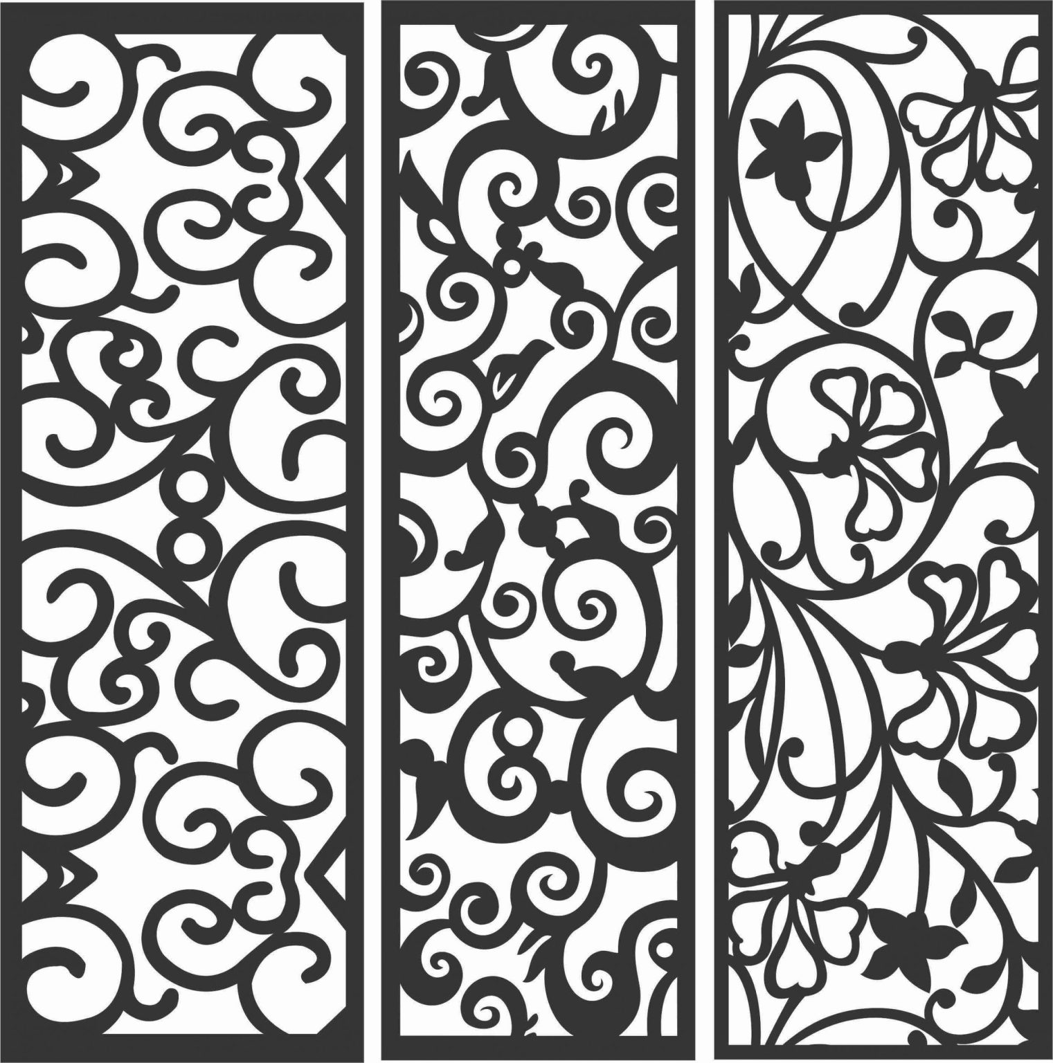 Decorative Screen Patterns For Laser Cutting 89 Free DXF File