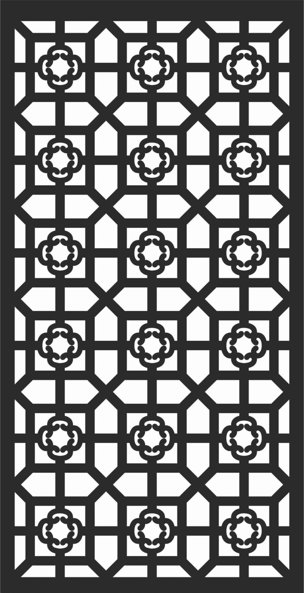 Decorative Screen Patterns For Laser Cutting 95 Free DXF File