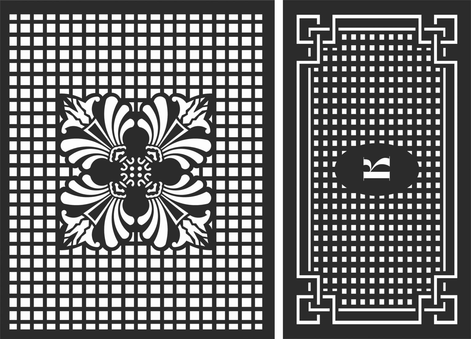 Decorative Screen Patterns For Laser Cutting 102 Free DXF File