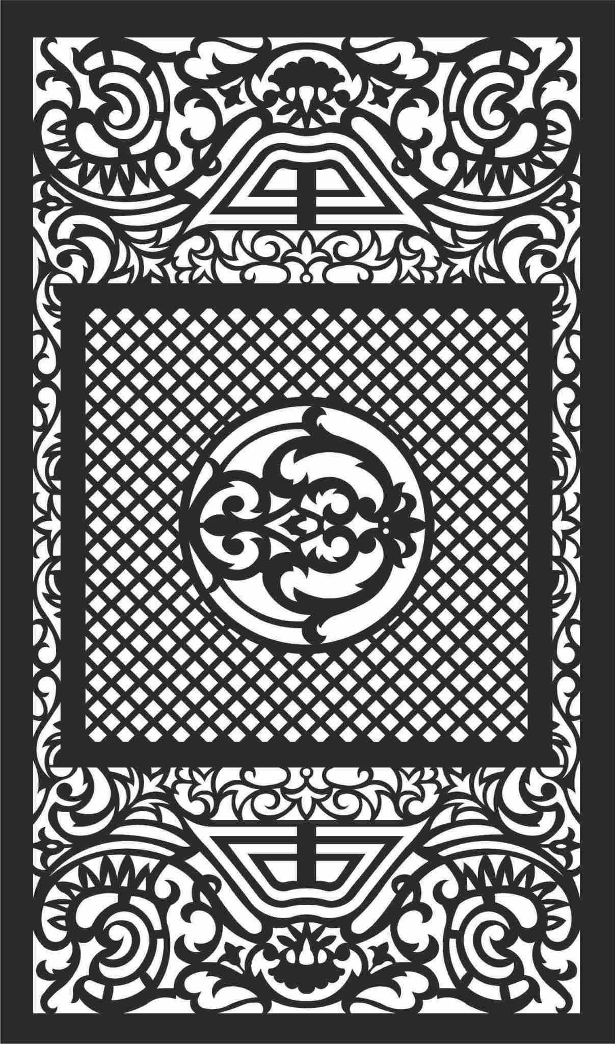 Decorative Screen Patterns For Laser Cutting 103 Free DXF File