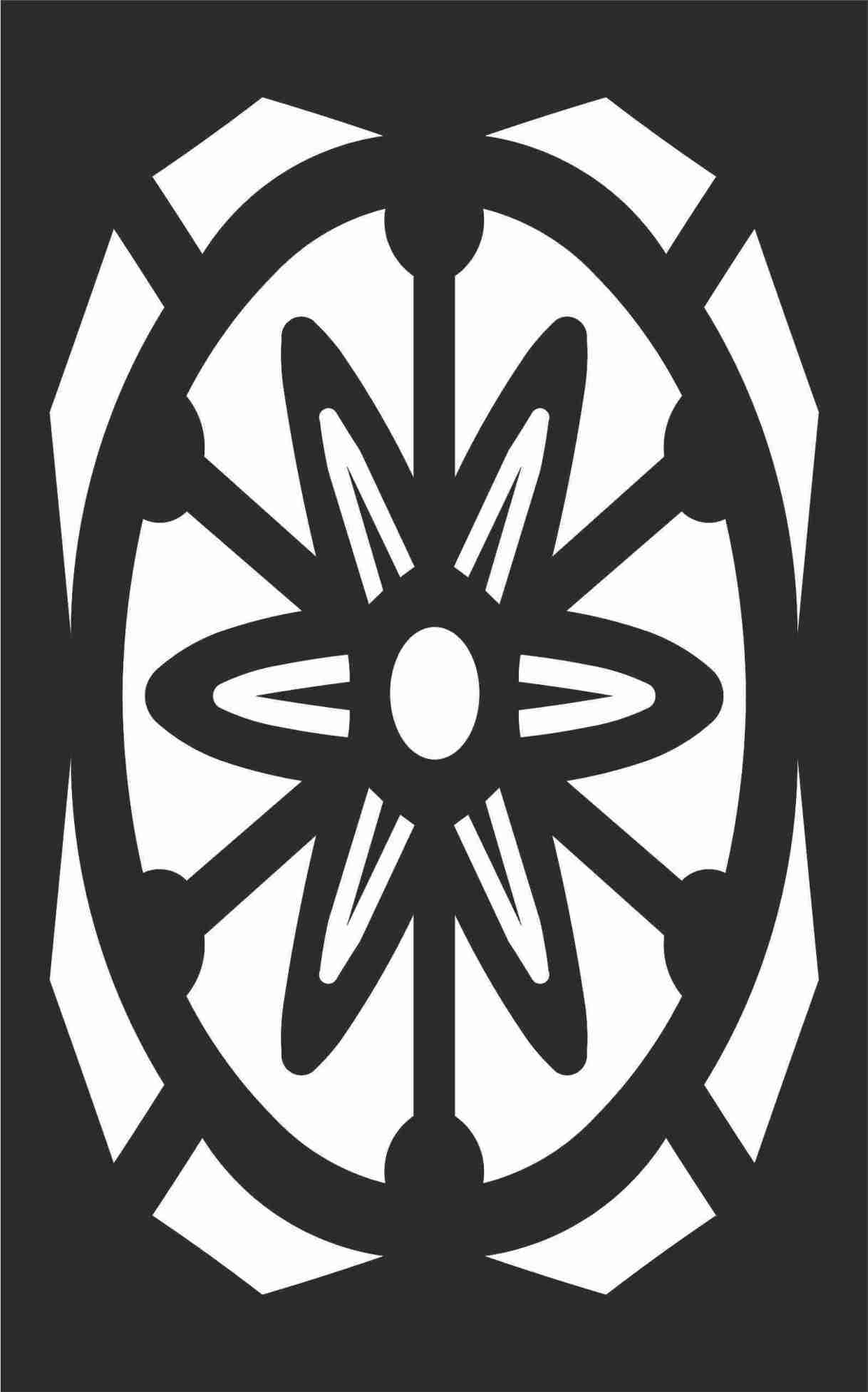 Decorative Screen Patterns For Laser Cutting 104 Free DXF File