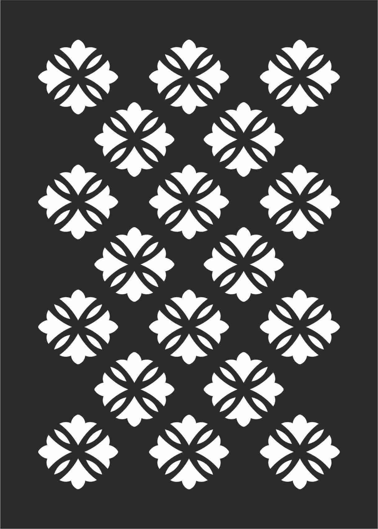 Decorative Screen Patterns For Laser Cutting 106 Free DXF File