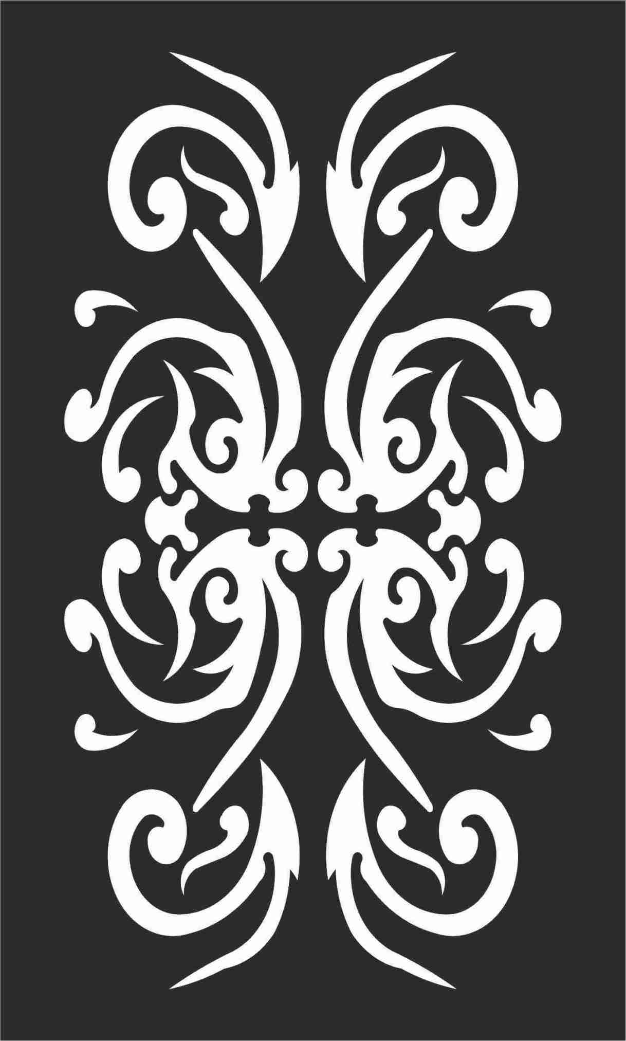 Decorative Screen Patterns For Laser Cutting 107 Free DXF File