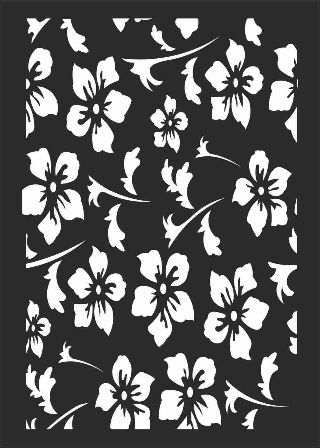 Decorative Screen Patterns For Laser Cutting 109 Free DXF File