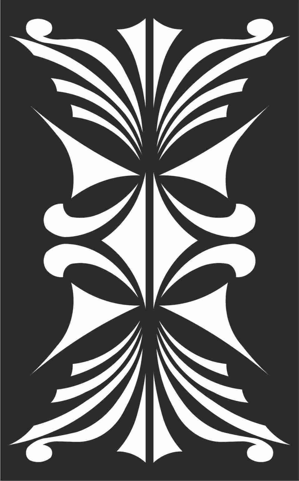 Decorative Screen Patterns For Laser Cutting 110 Free DXF File
