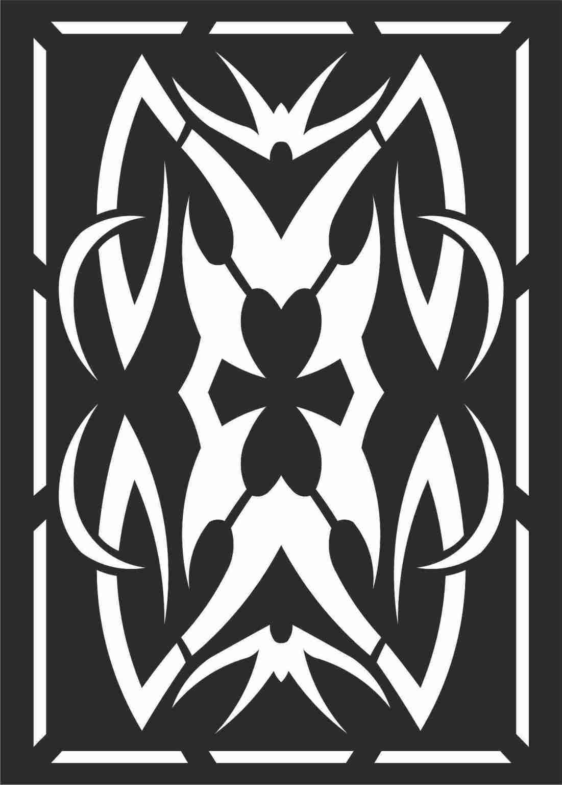 Decorative Screen Patterns For Laser Cutting 111 Free DXF File