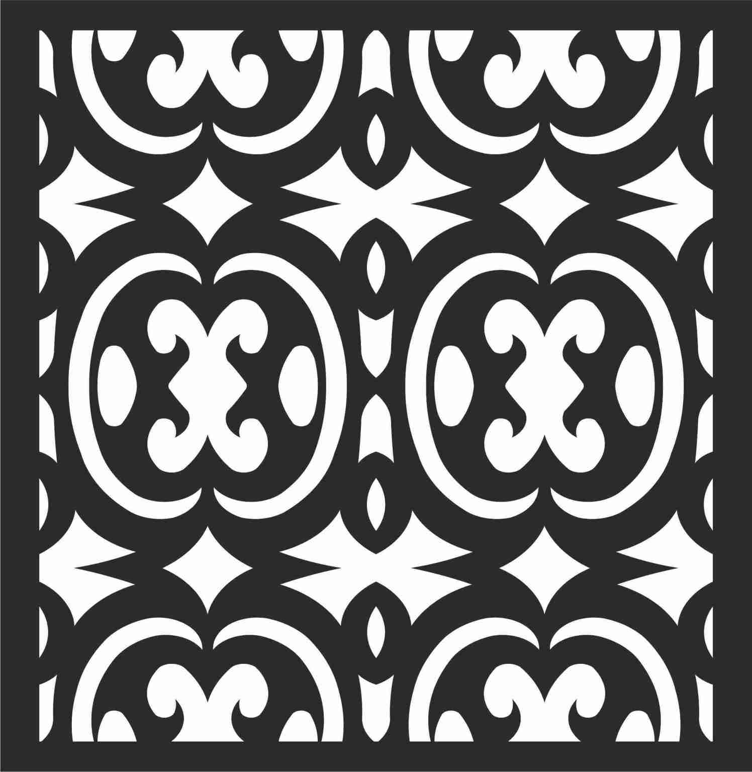 Decorative Screen Patterns For Laser Cutting 112 Free DXF File