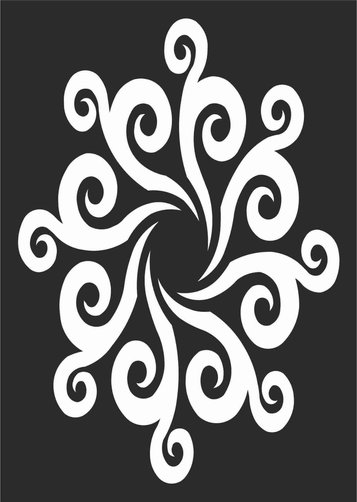 Decorative Screen Patterns For Laser Cutting 113 Free DXF File