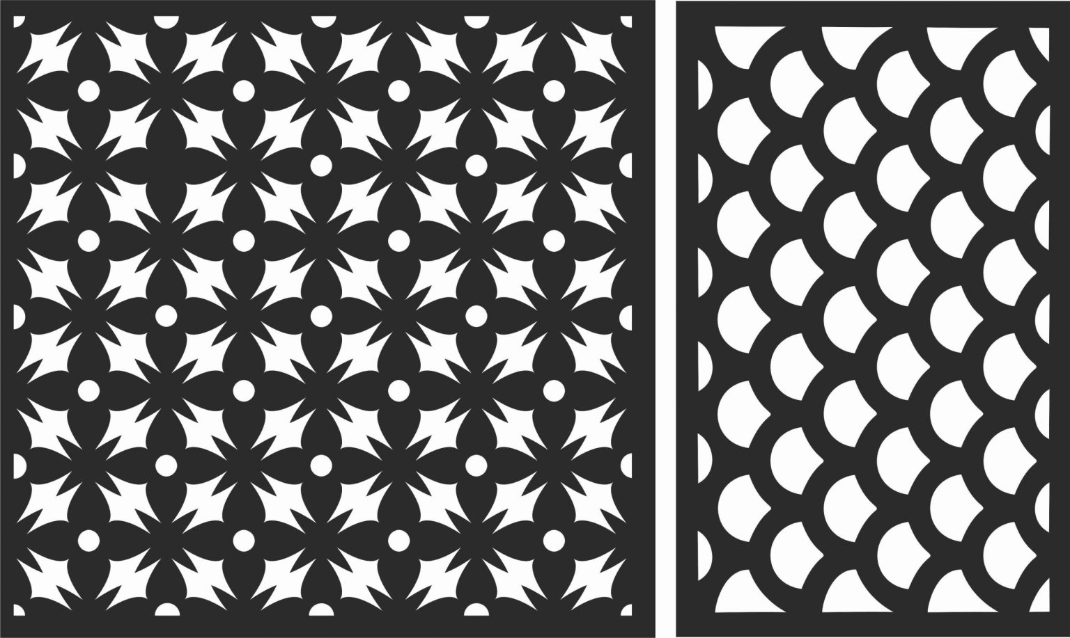 Decorative Screen Patterns For Laser Cutting 114 Free DXF File