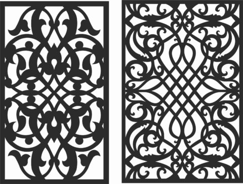 Decorative Screen Patterns For Laser Cutting 115 Free DXF File