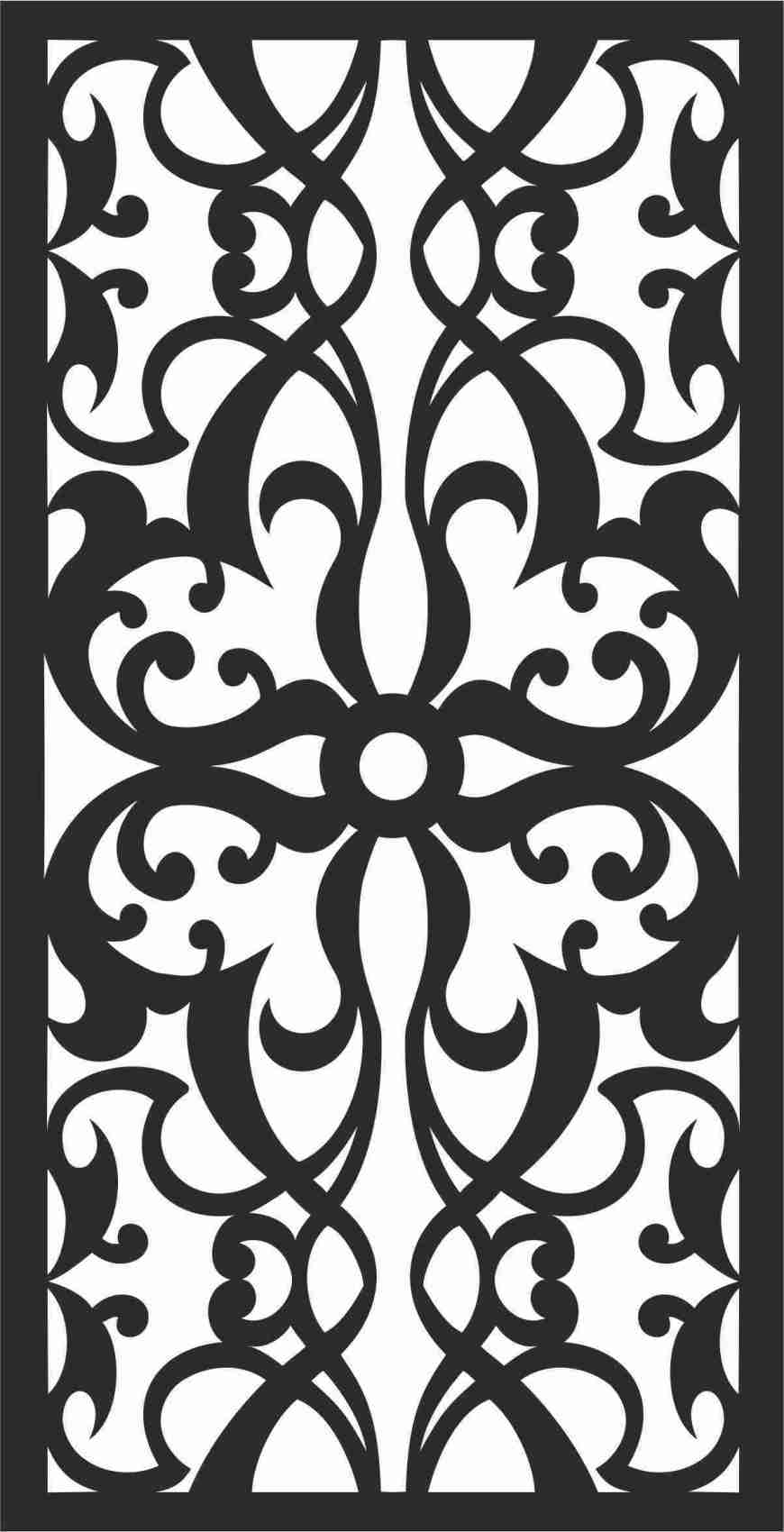 Decorative Screen Patterns For Laser Cutting 116 Free DXF File