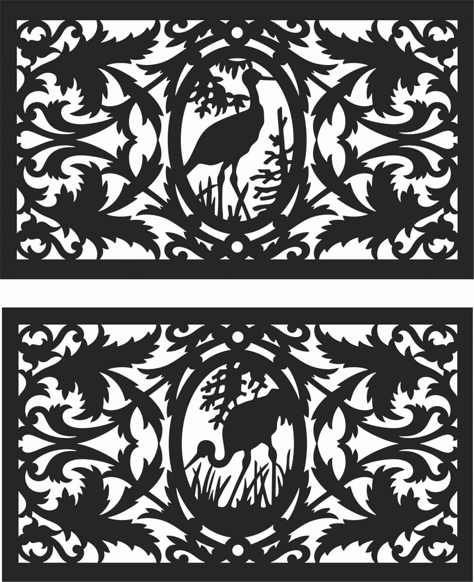 Decorative Screen Patterns For Laser Cutting 120 Free DXF File