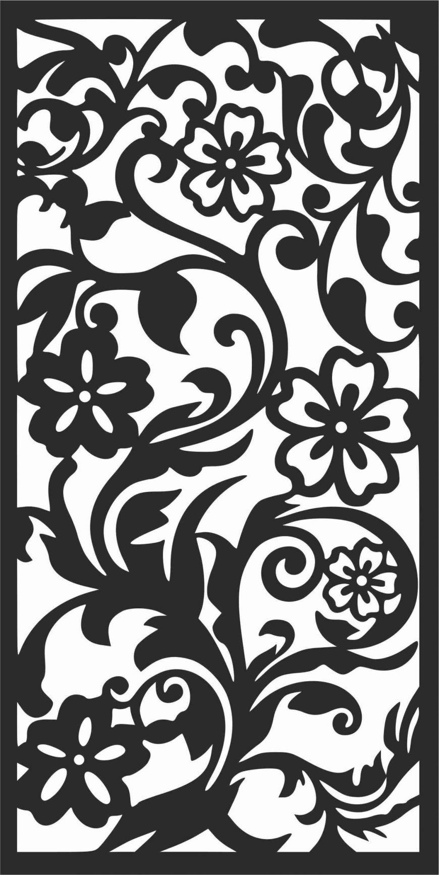 Decorative Screen Patterns For Laser Cutting 123 Free DXF File