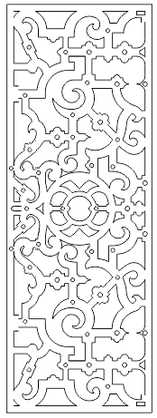 Decorative Screen Patterns For Laser Cutting 126 Free DXF File
