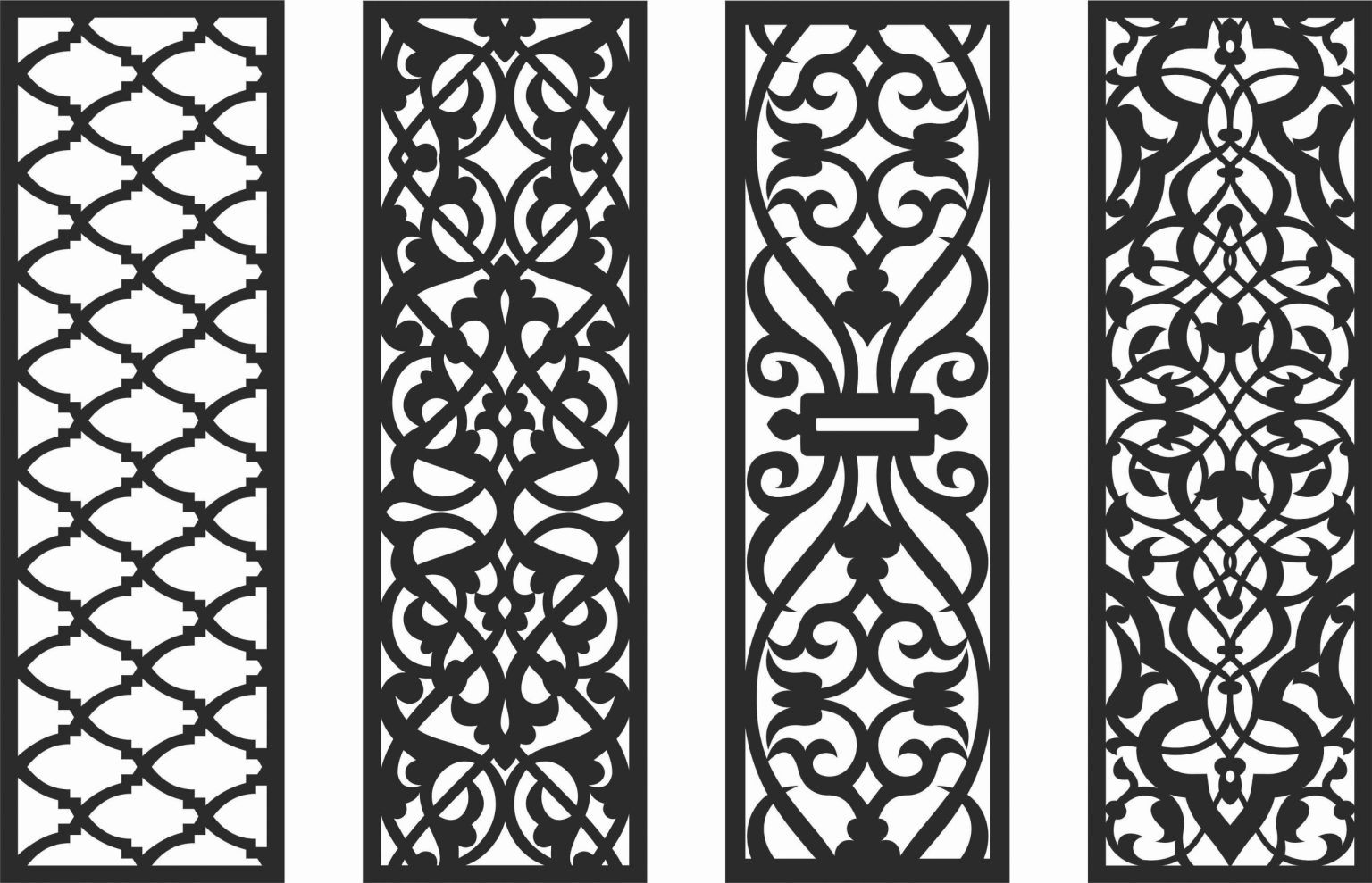 Decorative Screen Patterns For Laser Cutting 127 Free DXF File