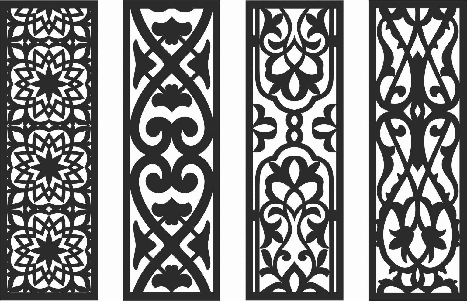 Decorative Screen Patterns For Laser Cutting 130 Free DXF File