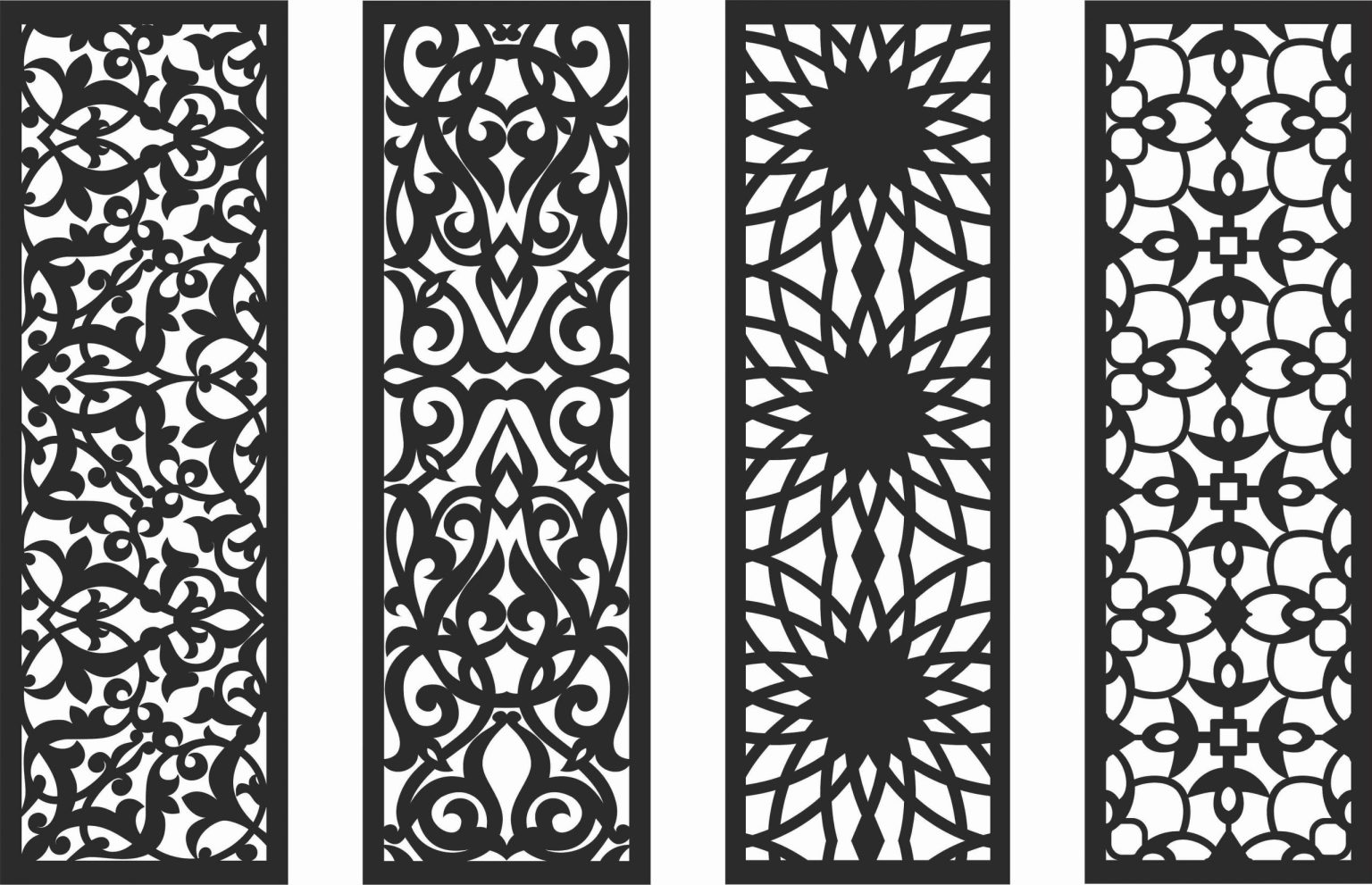 Decorative Screen Patterns For Laser Cutting 131 Free DXF File