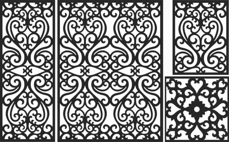 Decorative Screen Patterns For Laser Cutting 141 Free DXF File