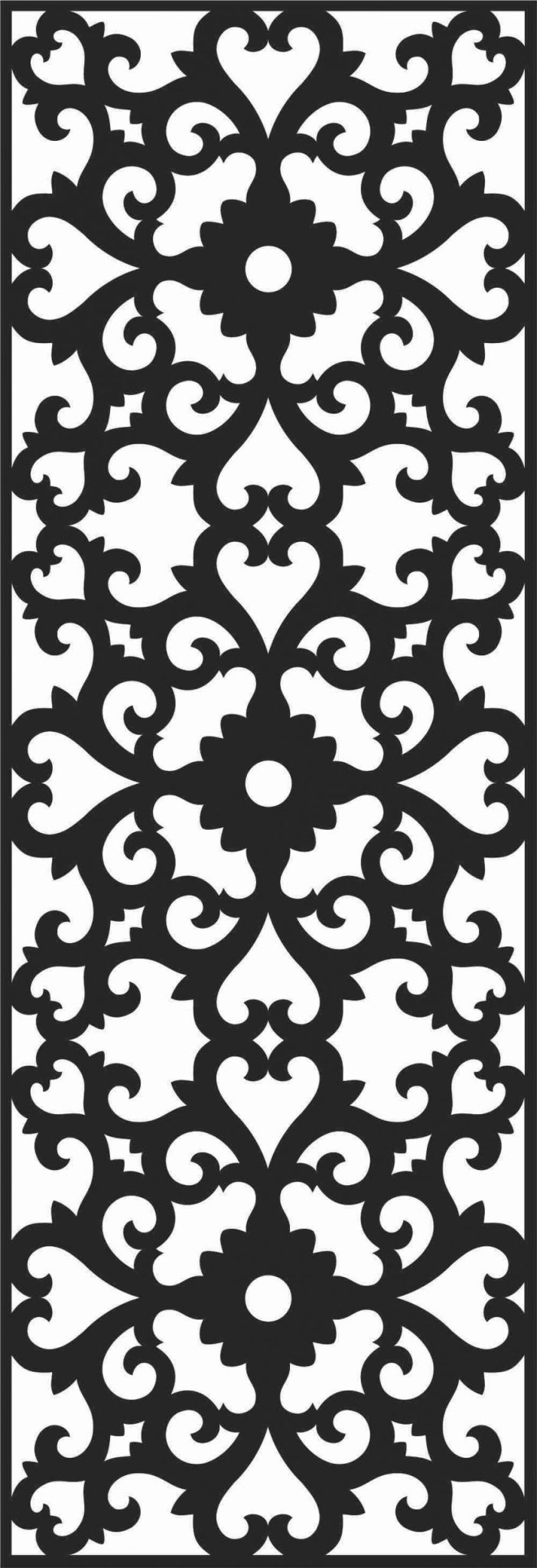 Decorative Screen Patterns For Laser Cutting 165 Free DXF File