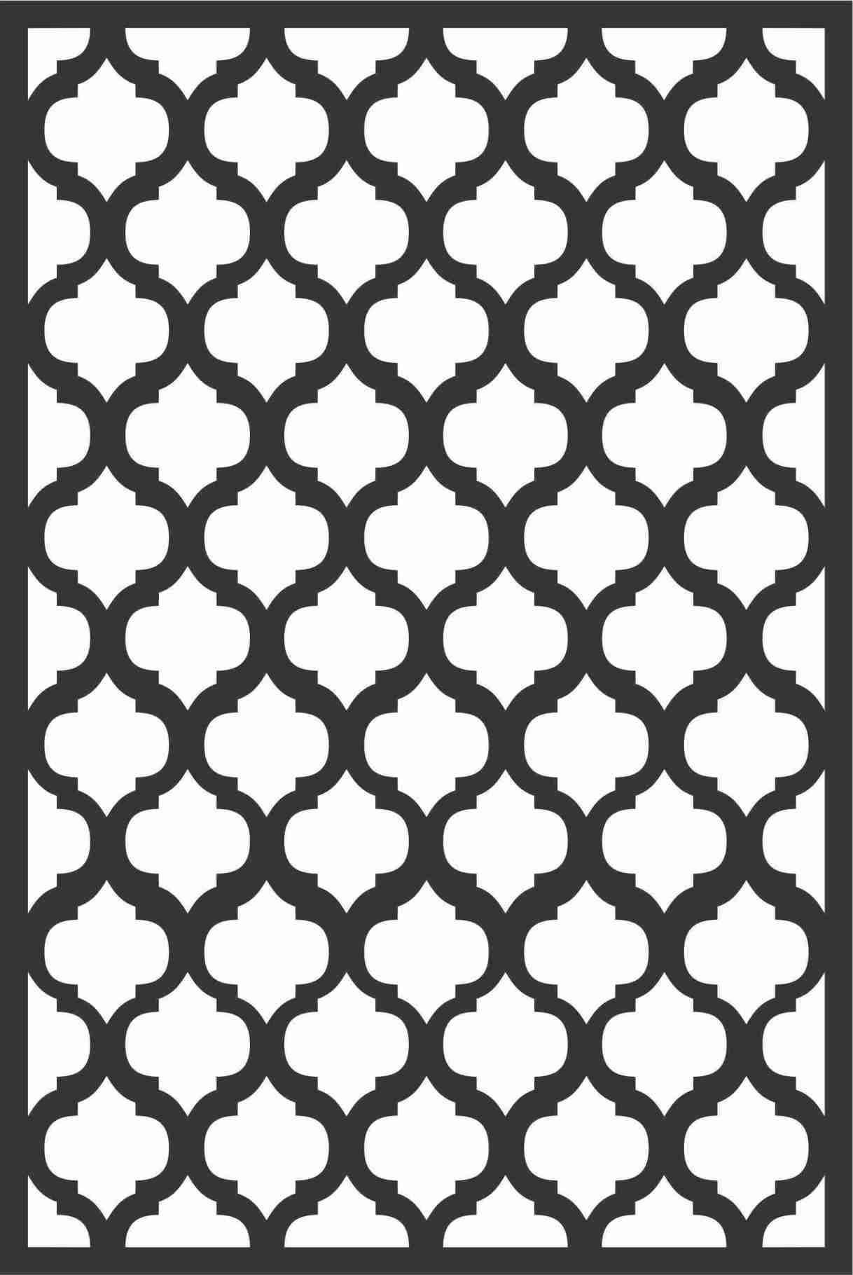 Decorative Screen Patterns For Laser Cutting 166 Free DXF File