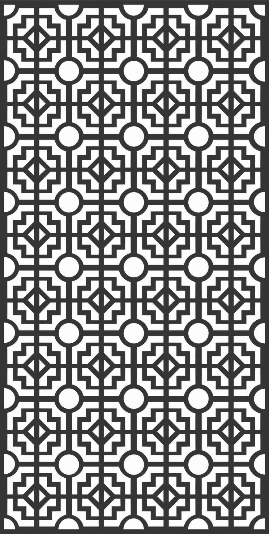 Decorative Screen Patterns For Laser Cutting 167 Free DXF File