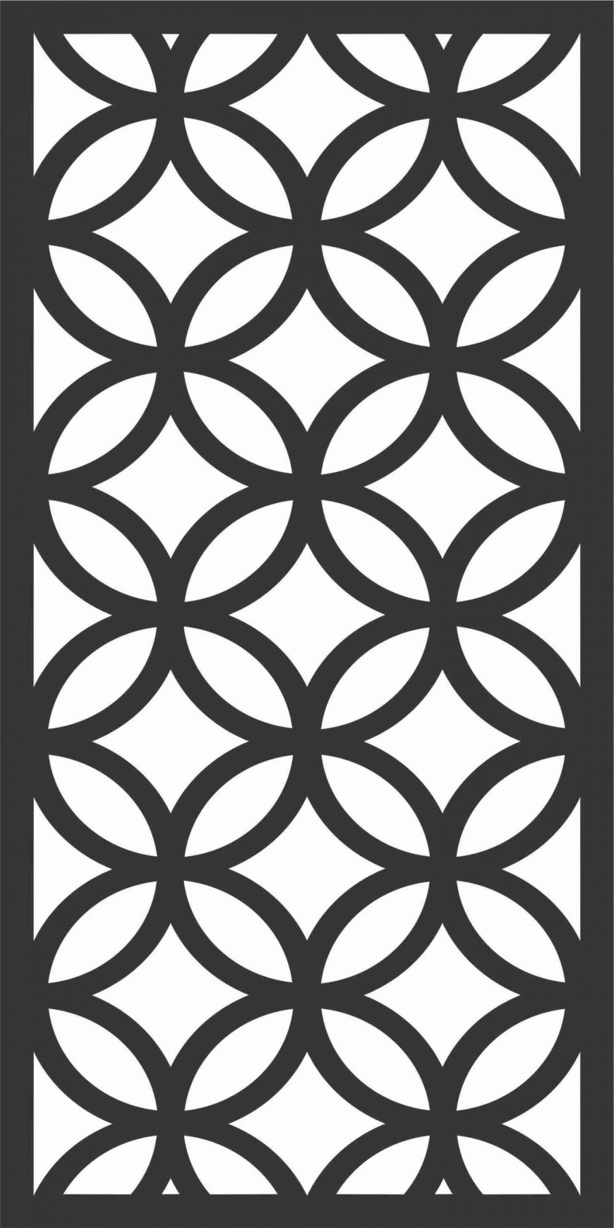 Decorative Screen Patterns For Laser Cutting 169 Free DXF File