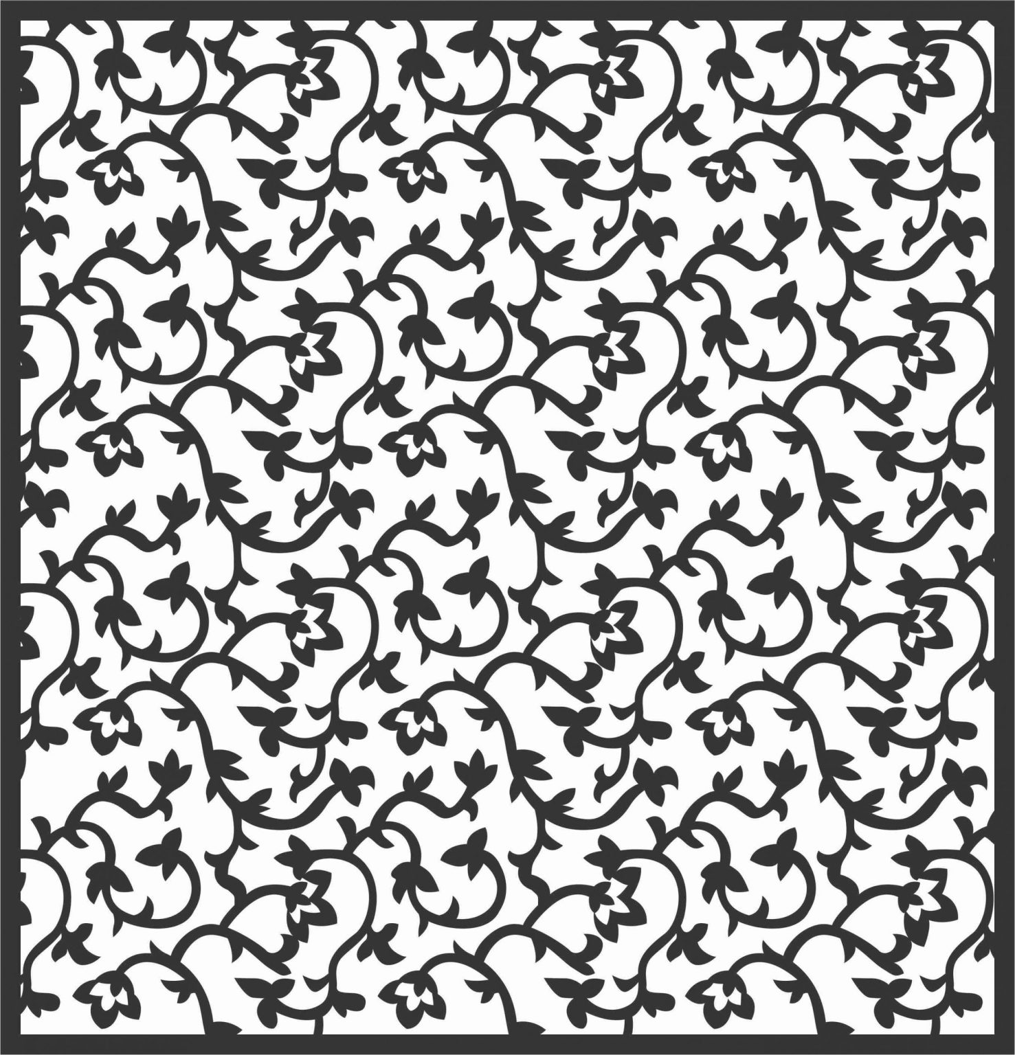 Decorative Screen Patterns For Laser Cutting 173 Free DXF File