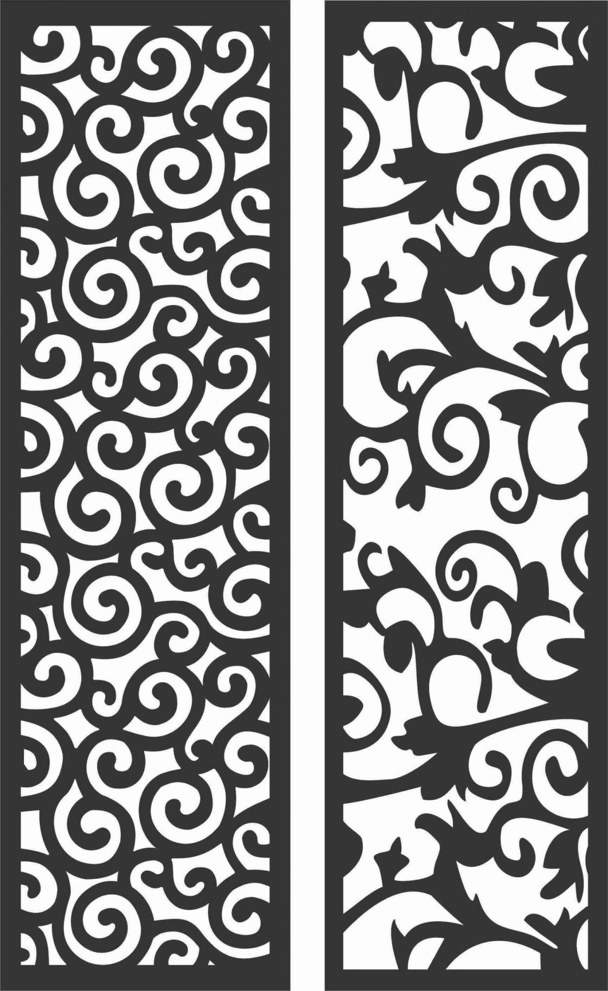 Decorative Screen Patterns For Laser Cutting 174 Free DXF File