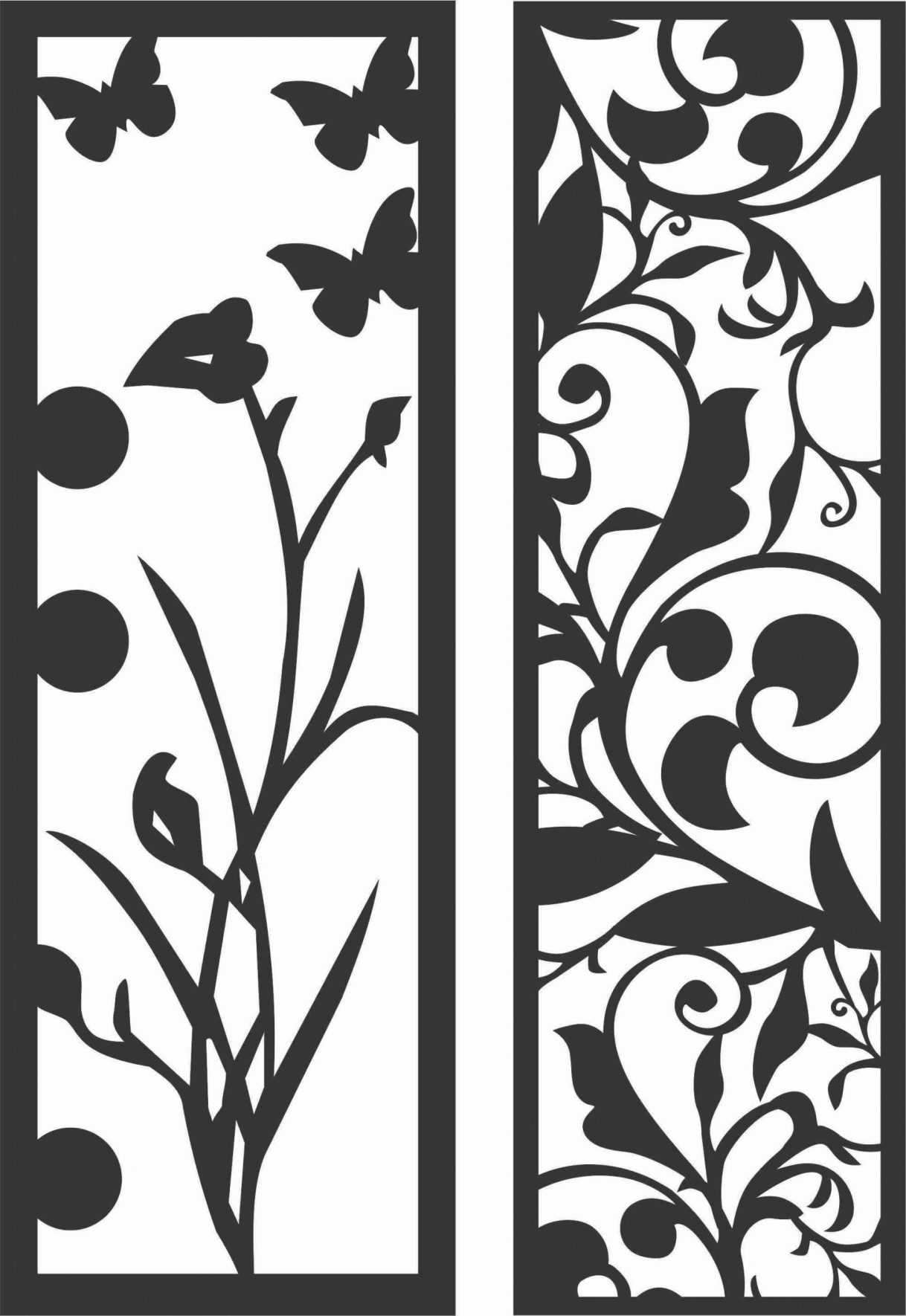Decorative Screen Patterns For Laser Cutting 176 Free DXF File