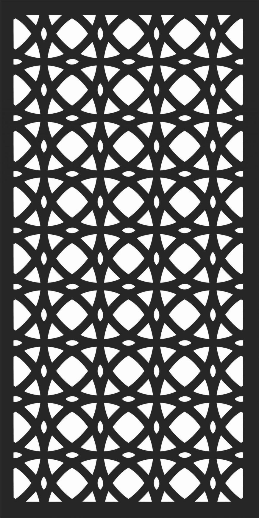 Decorative Screen Patterns For Laser Cutting 182 Free DXF File