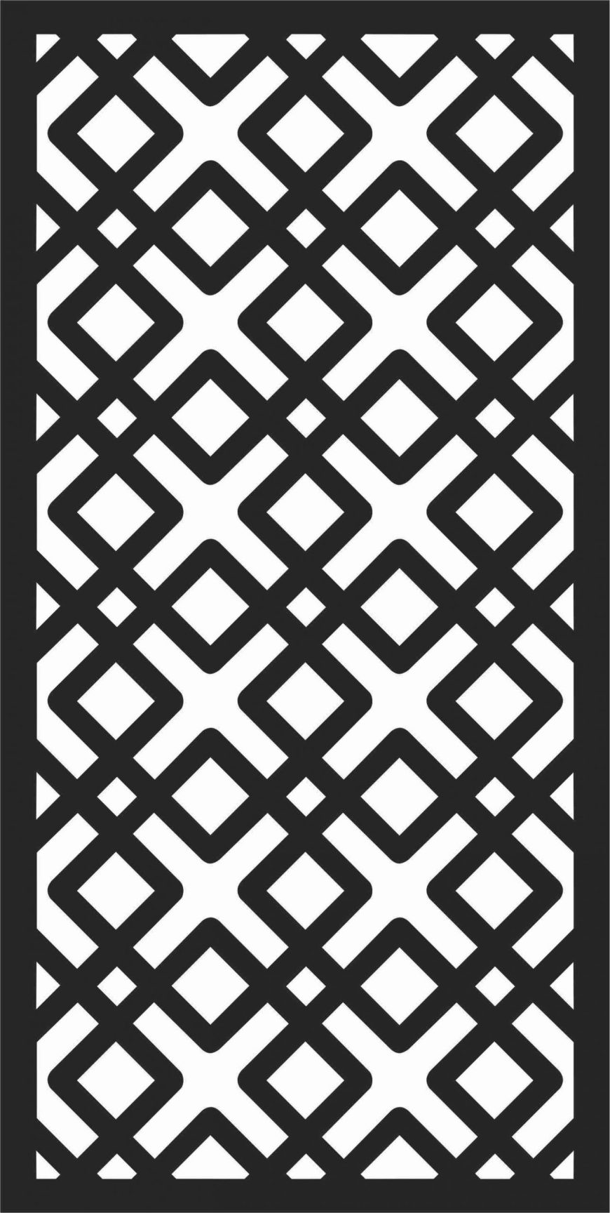 Decorative Screen Patterns For Laser Cutting 184 Free DXF File