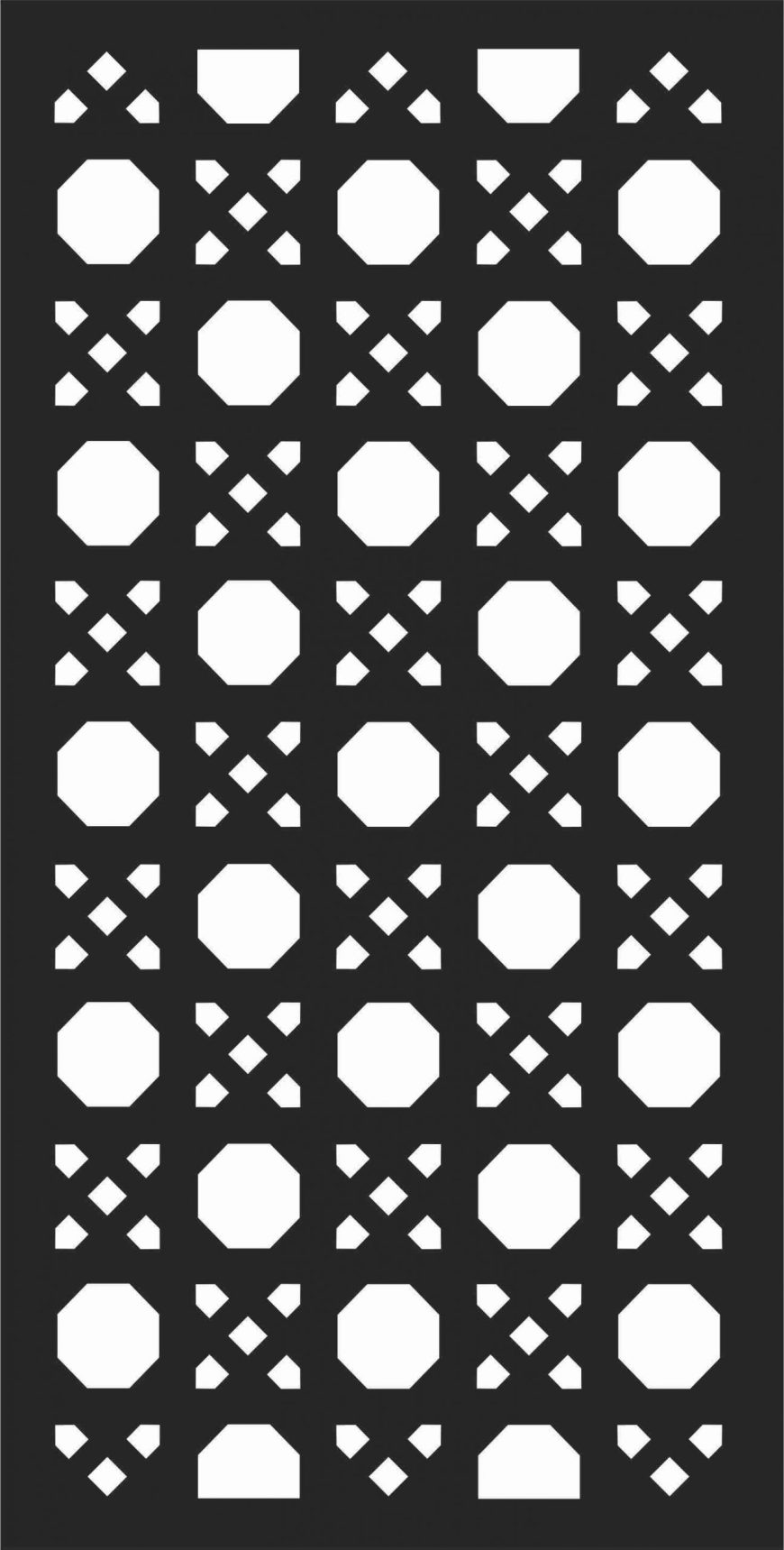 Decorative Screen Patterns For Laser Cutting 186 Free DXF File