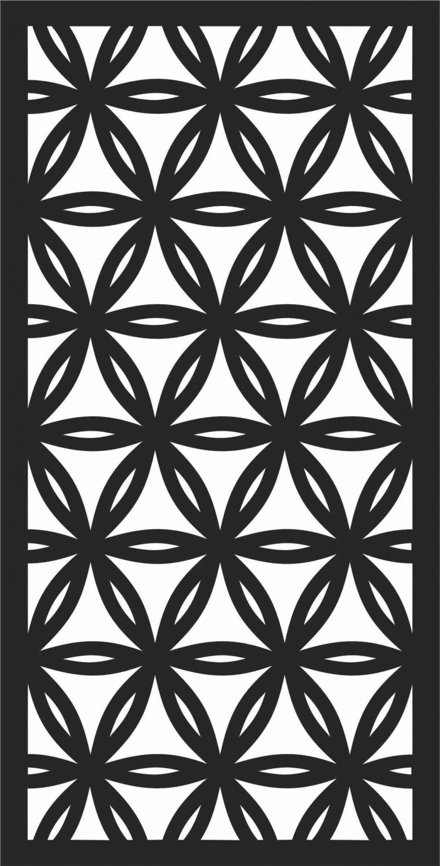 Decorative Screen Patterns For Laser Cutting 194 Free DXF File