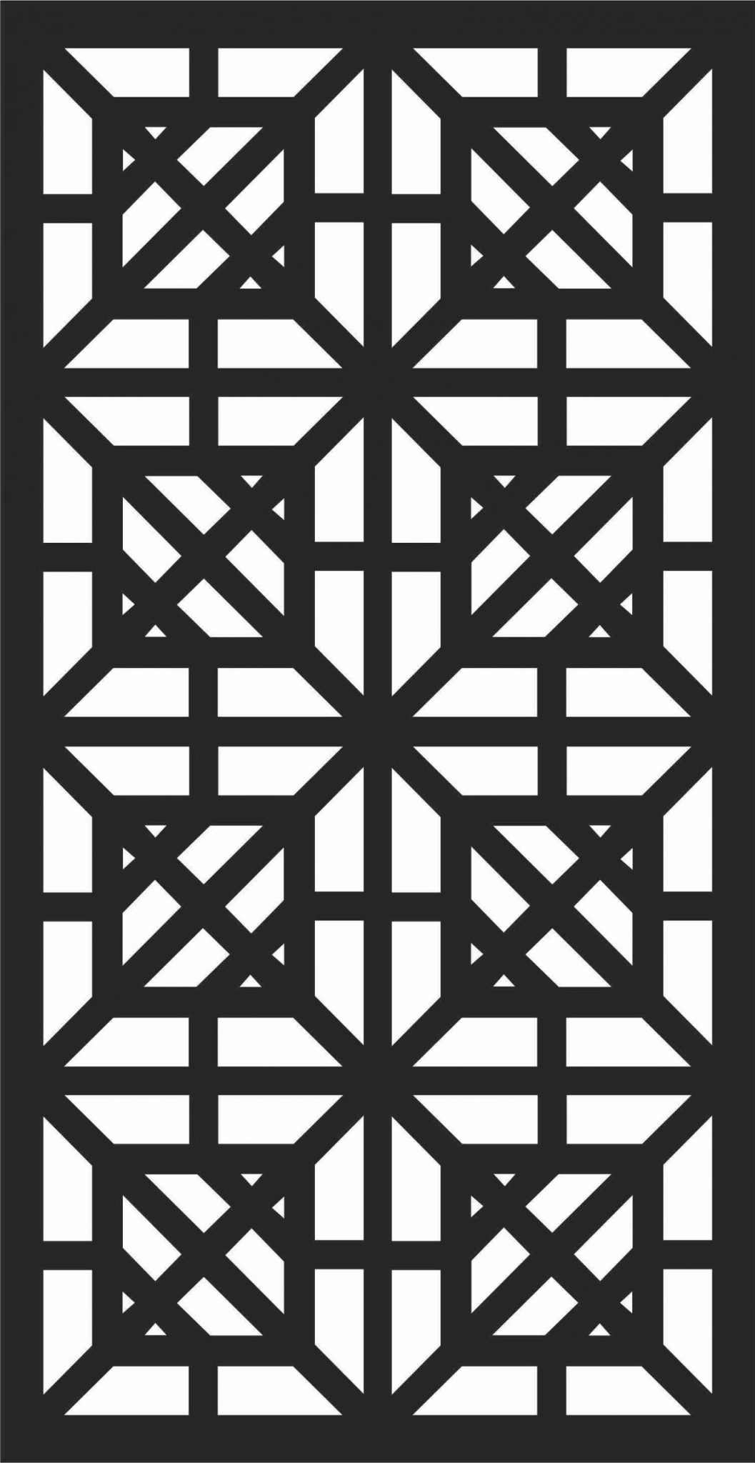Decorative Screen Patterns For Laser Cutting 197 Free DXF File