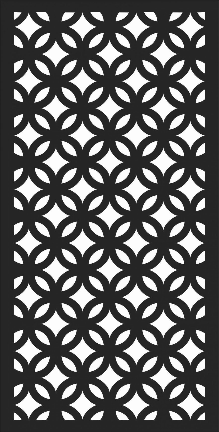 Decorative Screen Patterns For Laser Cutting 198 Free DXF File