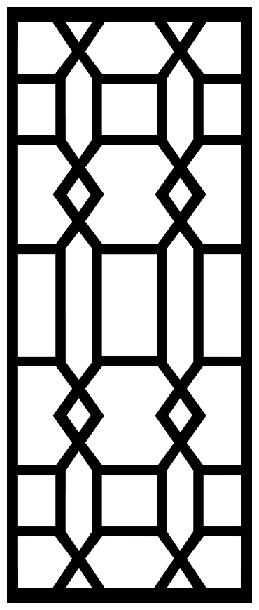 Decorative Screen Patterns For Laser Cutting 1880 Free DXF File