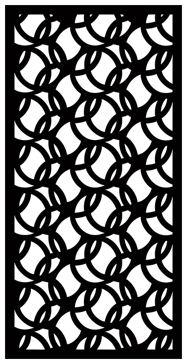 Decorative Screen Patterns For Laser Cutting 1897 Free DXF File
