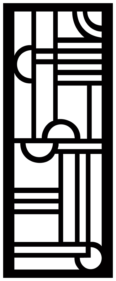 Decorative Screen Patterns For Laser Cutting 1901 Free DXF File