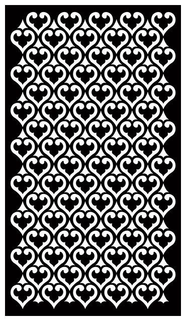 Decorative Screen Patterns For Laser Cutting 1911 Free DXF File